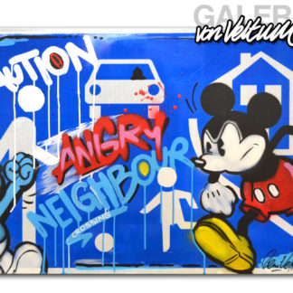 Spielstraße Schild, Graffiti, Popart, Comic, Beni