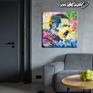Freddie Mercury Popart graffiti