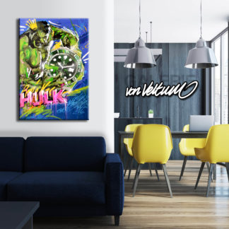Ling room, Design, Interieur, luxury, appartment, Popart on canvas