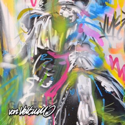 Abstrakt, graffiti, Detail