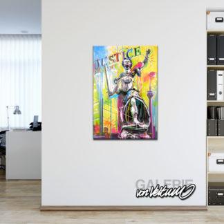 Zeitgenössische Kunst in der Büroetage, bunt, farbenfroh, liebevoll, leidenschaftlich