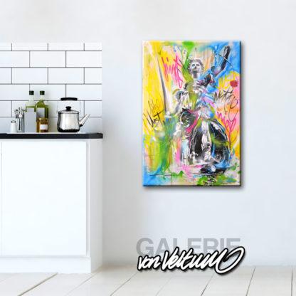 Küche, Kunst, bunt, Interieur, Design, Architektur